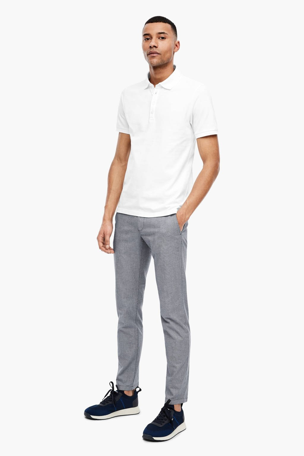 s.Oliver BLACK LABEL regular fit polo wit, Wit