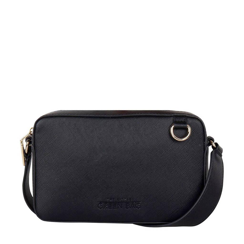 The Little Green Bag  crossbody tas Clover zwart, Zwart