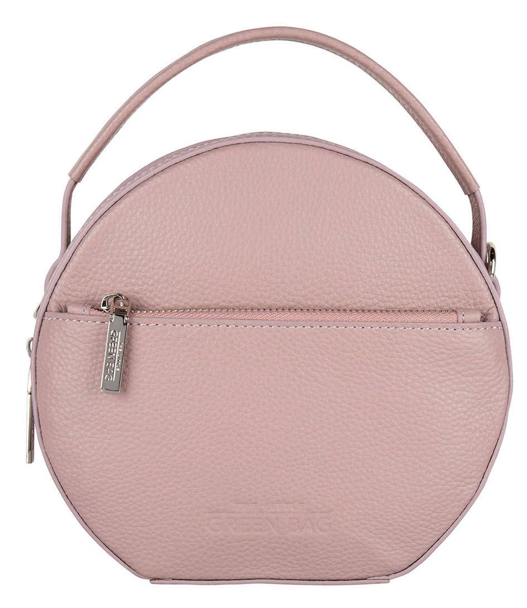 The Little Green Bag  leren handtas Fern roze, Olijfgroen