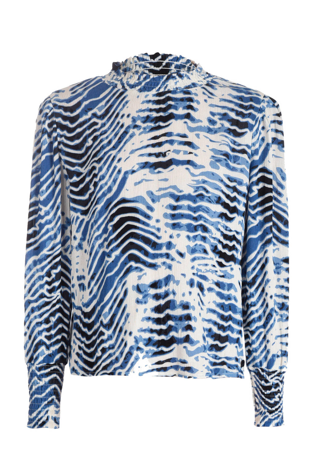 Jill & Mitch by Shoeby top met all over print blauw, Blauw