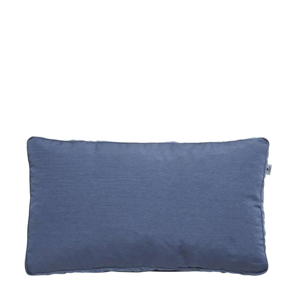 Summerset rugkussen 46x80cm Bloemendaal denim, Blauw