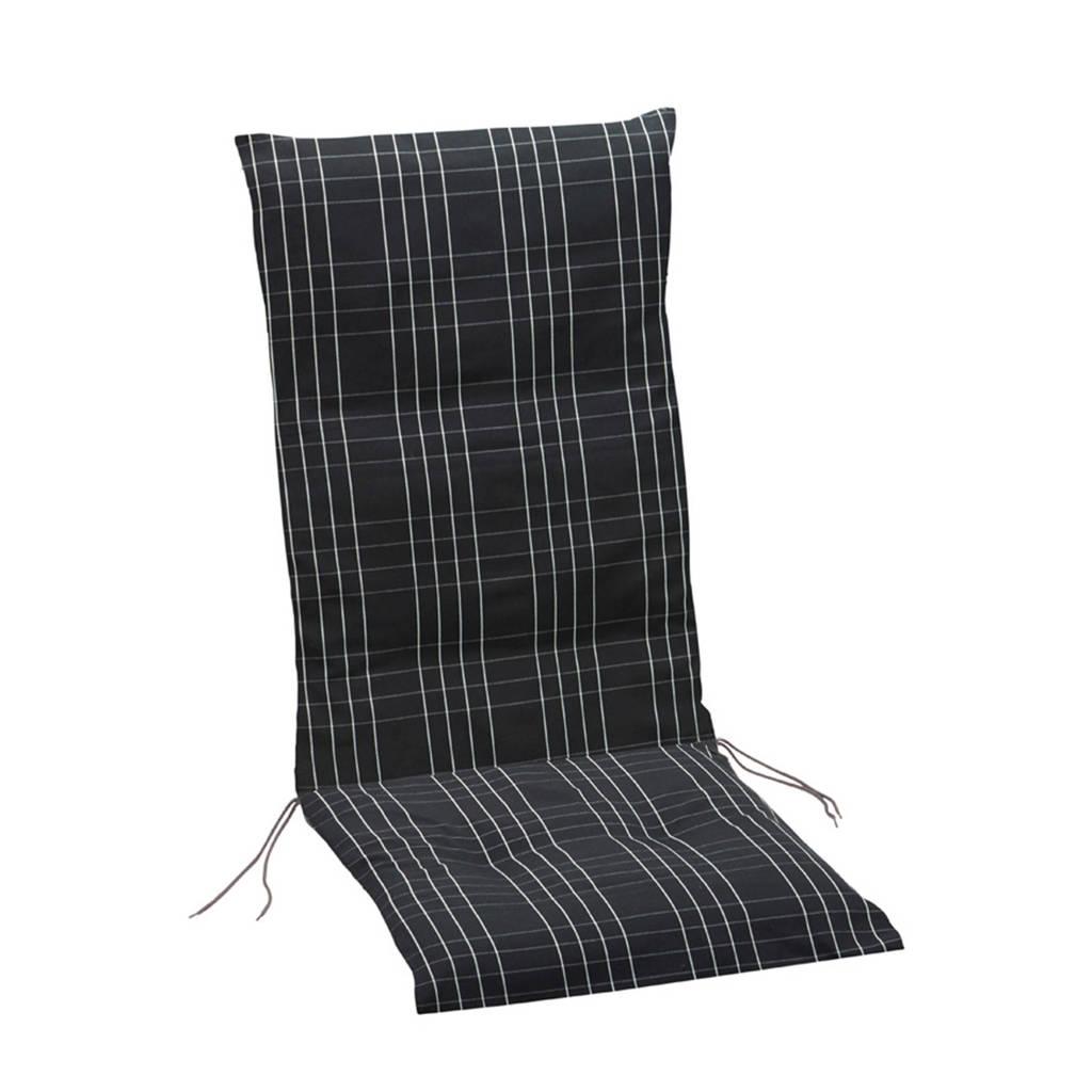 Summerset tuinstoelkussen brighton hoge rug black 117x49, Zwart