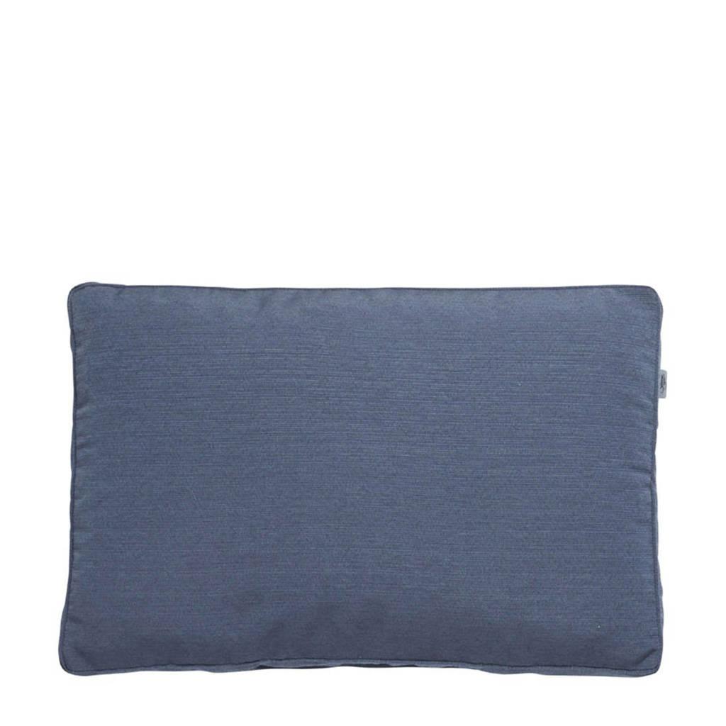 Summerset rugkussen 46x70cm Bloemendaal denim, Blauw
