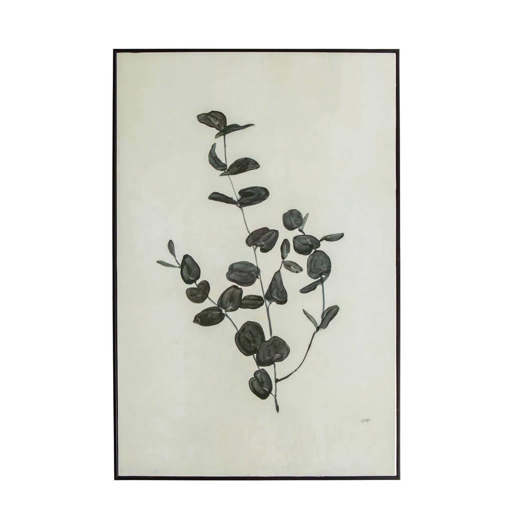 WOOOD Exclusive schilderij Yaro  (60x40 cm), Zwart
