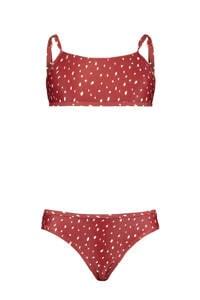America Today Junior bikini Lizzy met all over print rood, Rood