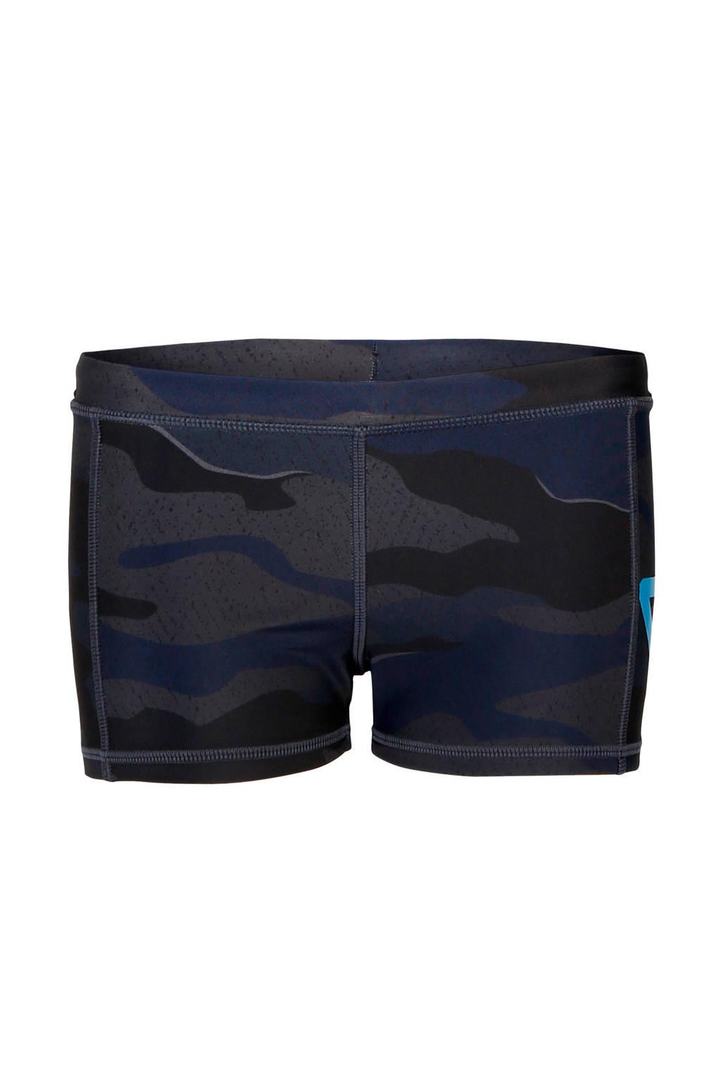 Brunotti zwemboxer Berkley met camouflageprint donkerblauw, Donkerblauw