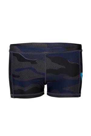 zwemboxer Berkley met camouflageprint donkerblauw