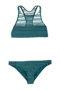 Brunotti opengewerkte crop bikini Elena groen, Groen
