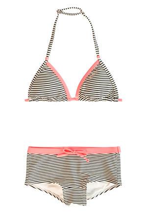 triangel bikini Atillia creme/zwart