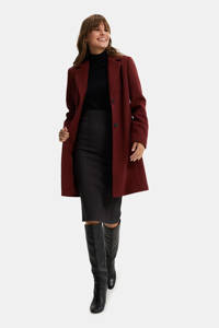 WE Fashion coat deep red