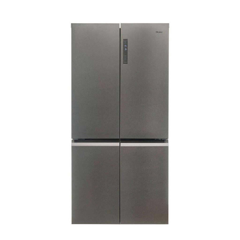 Haier HTF-540DP7 amerikaanse koelkast, Platinum,Stainless steel