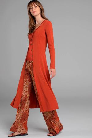 jersey jurk terracotta