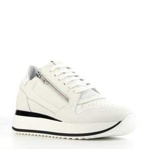 76700  leren sneakers wit/zwart