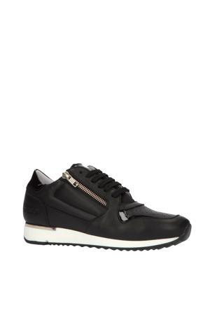 76748  leren sneakers zwart