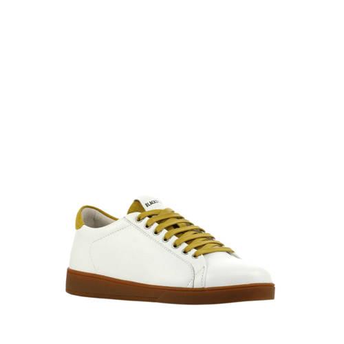 Blackstone RL84 leren sneakers wit/okergeel