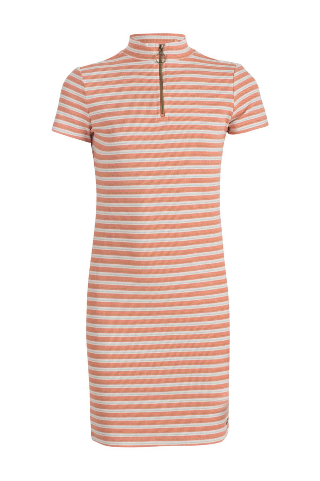 JILL MITCH gestreepte jurk Reona roze/ecru/goud, Roze/ecru/goud