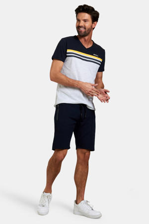 Refill regular fit sweatshort donkerblauw