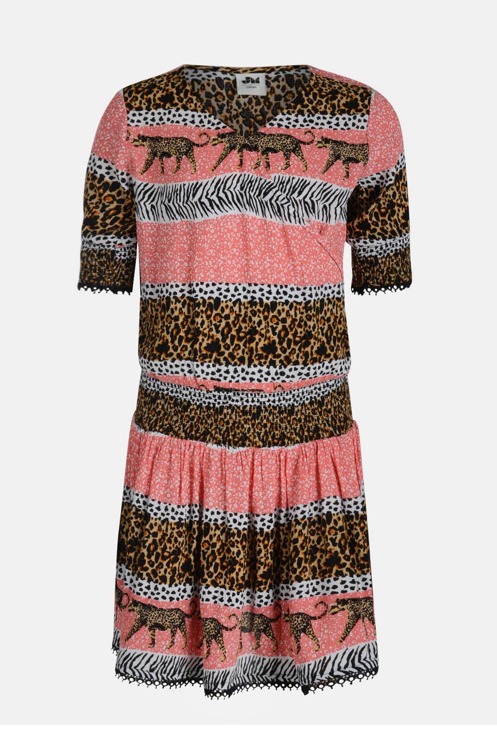 Jill & Mitch by Shoeby A-lijn jurk Reesa met all over print en plooien multi, Multi