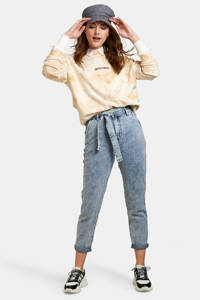 Eksept by Shoeby high waist tapered fit broek blauw, Blauw