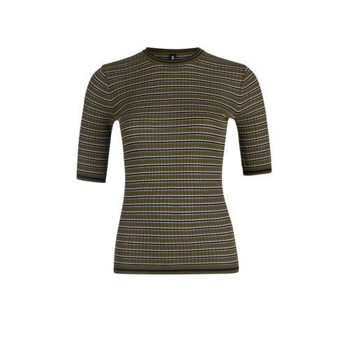 Eksept by Shoeby gestreept T-shirt groen