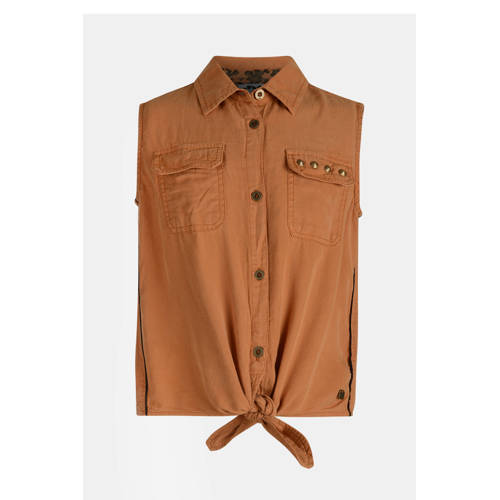 JILL MITCH blouse Rana met studs bruin