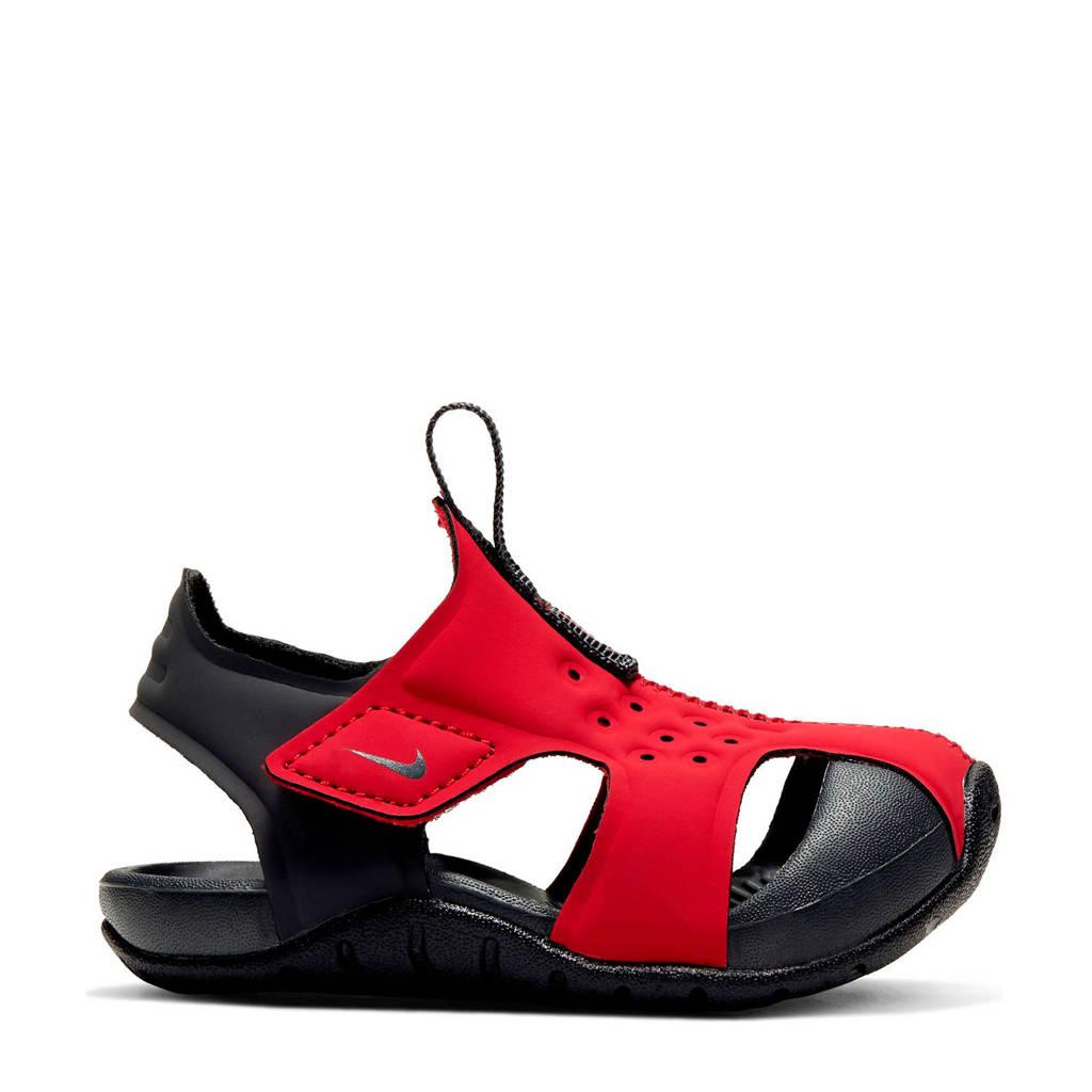 Nike Sunray Protect 2 (TD) waterschoenen rood kids, Rood/zwart