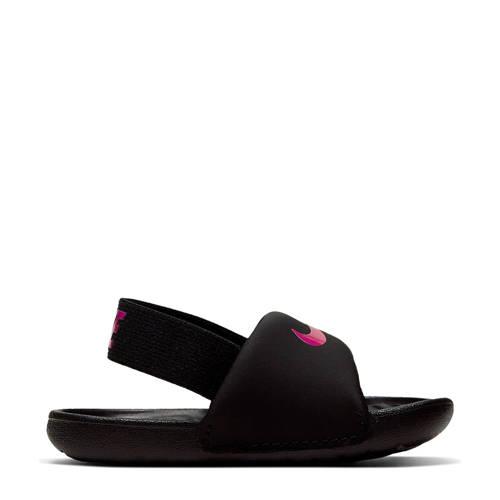 Nike Kawa Slide (TD) slippers zwart/roze