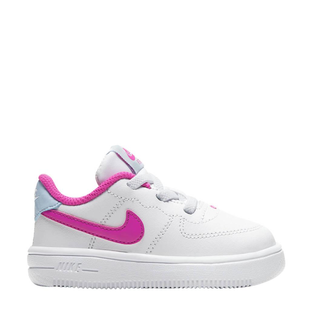 Nike Air Force 1 '18 (TD) sneakers wit/fuchsia, Wit/fuchsia