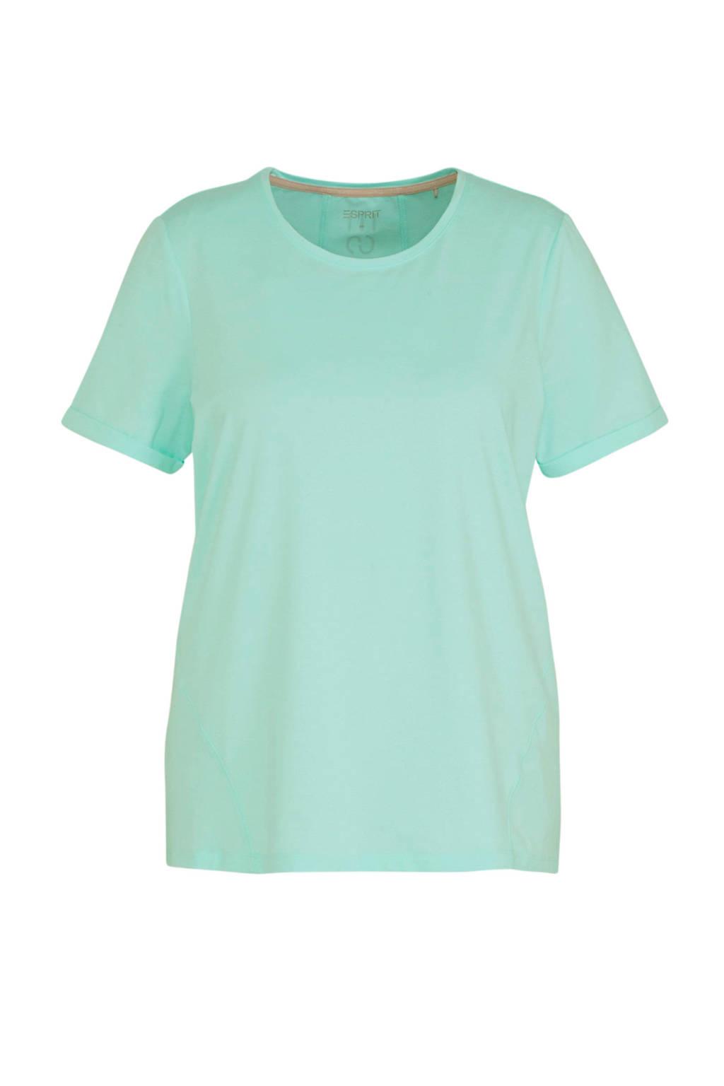 ESPRIT Women Sports Plus Size T-shirt mintgroen, Mintgroen