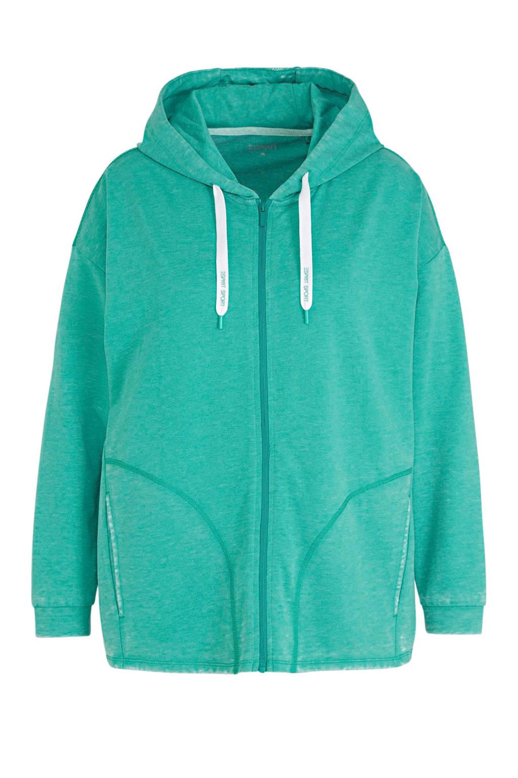 ESPRIT Women Sports Plus Size sportvest turquoise, Turquoise/wit