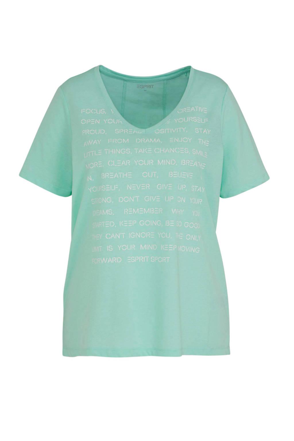 ESPRIT Women Sports T-shirt lichtblauw, Lichtblauw