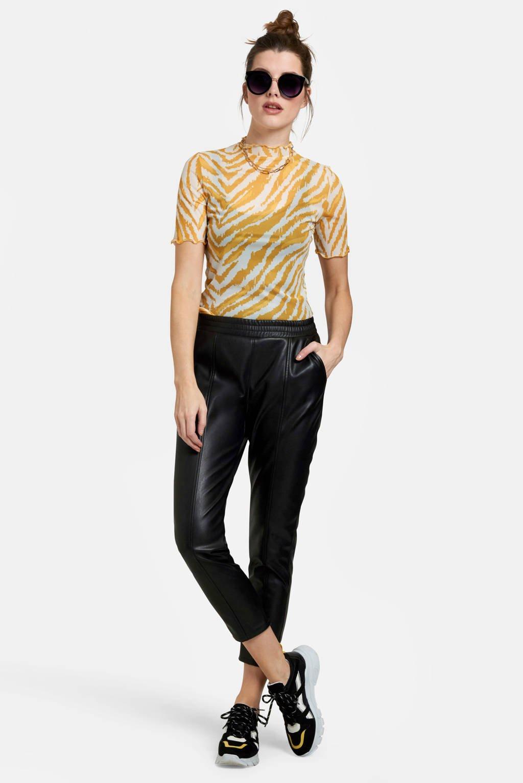 Eksept by Shoeby top met zebraprint geel, Geel
