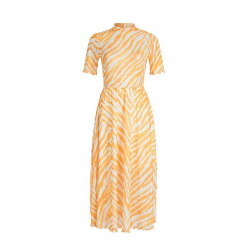 Eksept by Shoeby jurk met zebraprint geel
