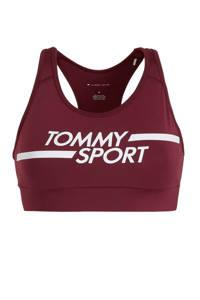 Tommy Hilfiger Sport level 3 sportbh donkerrood, Donkerrood