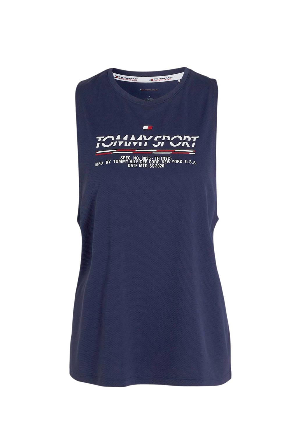 Tommy Hilfiger Sport sporttop blauw, Blauw