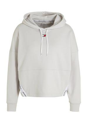 cropped sportsweater lichtgrijs