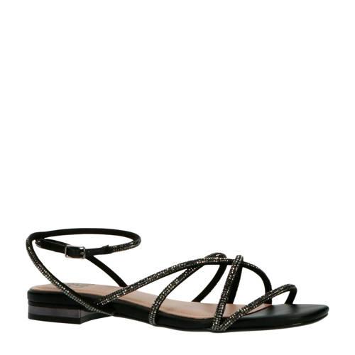 Bibi Lou sandalen met strass steentjes zwart