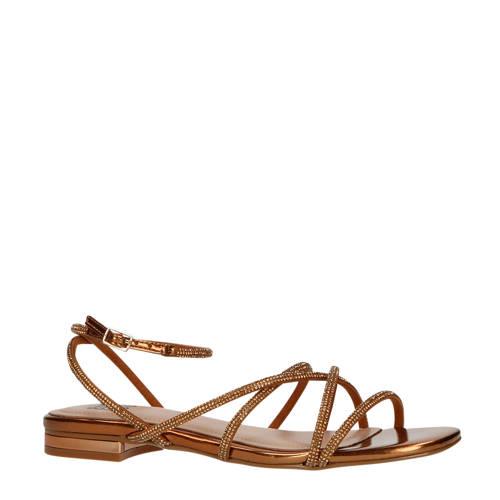 Bibi Lou sandalen met strass steentjes goud