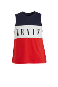 Levi's Kids singlet met logo rood/wit/donkerblauw, Rood/wit/donkerblauw