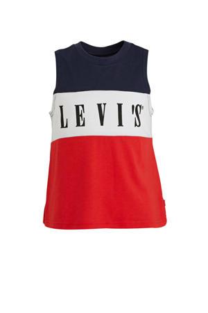 Levi's Kids singlet met logo rood/wit/donkerblauw