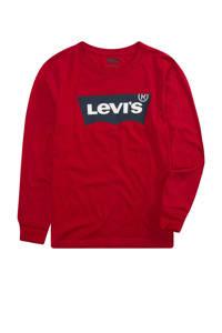 Levi's Kids longsleeve Batwing met logo rood, Rood