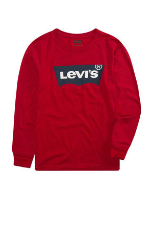 Levi's Kids longsleeve Batwing met logo rood