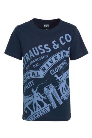 Levi's Kids T-shirt met printopdruk donkerblauw/blauw