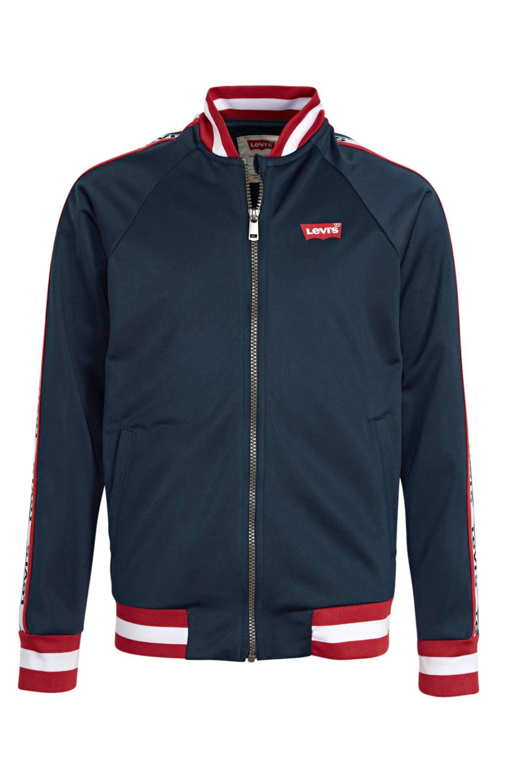 Levi's Kids jas met logo donkerblauw/rood/wit, Donkerblauw/rood/wit