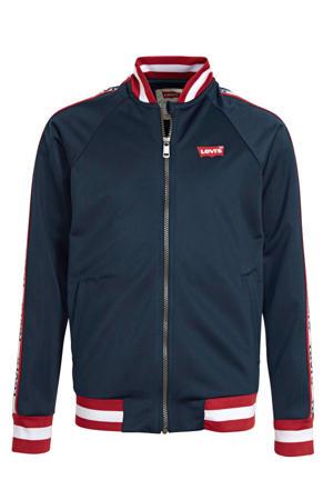 Levi's Kids jas met logo donkerblauw/rood/wit