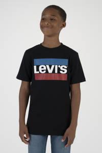Levi's Kids T-shirt met logo zwart/rood/blauw, Zwart/rood/blauw
