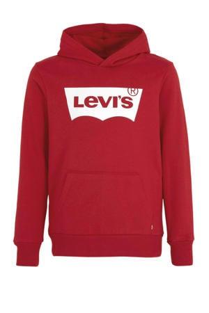 Levi's Kids hoodie met logo rood/wit