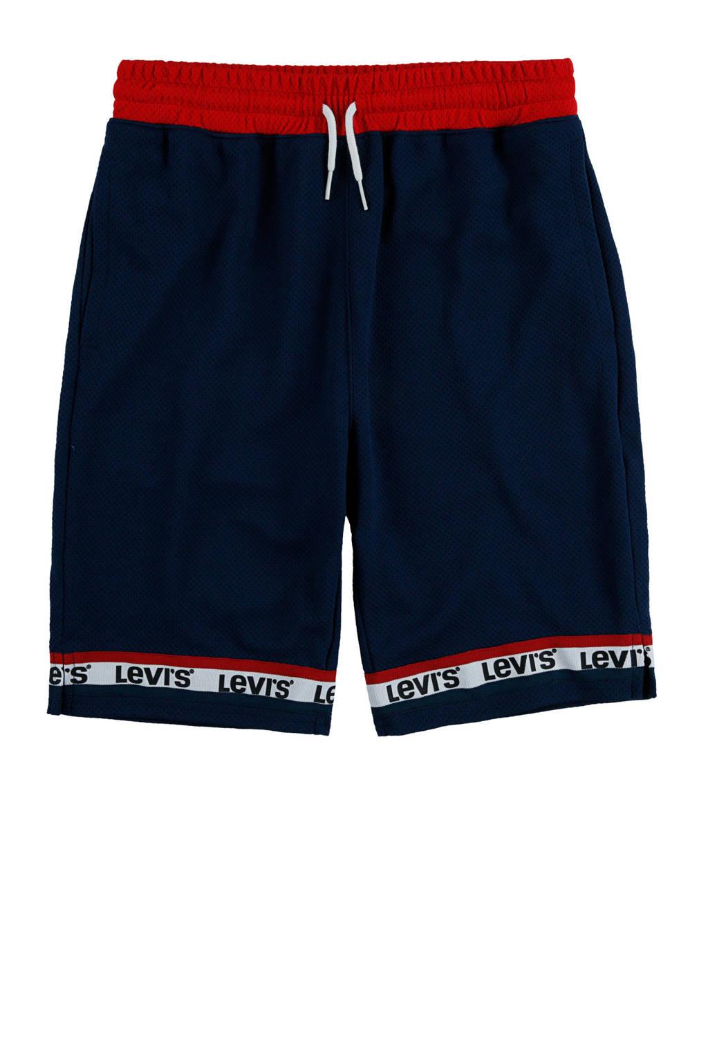 Levi's Kids short met logo donkerblauw/rood/wit, Donkerblauw/rood/wit