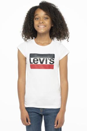 Levi's Kids T-shirt met logo wit/rood/donkerblauw