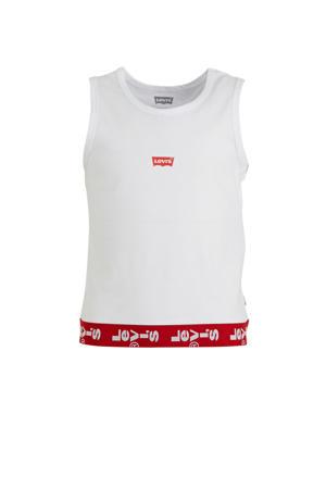 Levi's Kids top met logo wit/rood